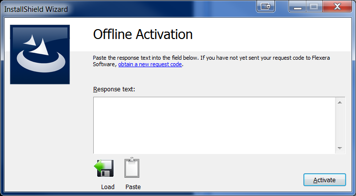Offline Activation Dialog - Prompted For Response File