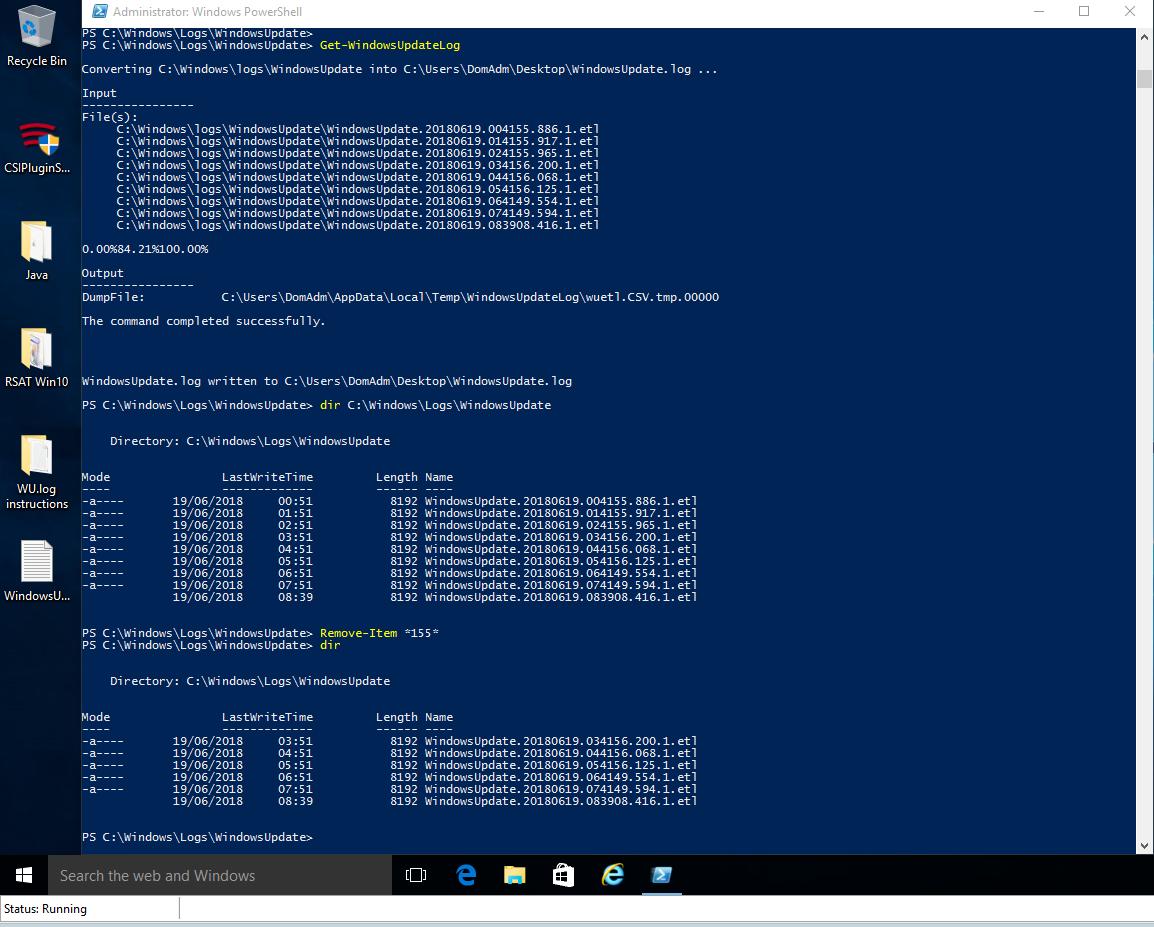 How to view 'WindowsUpdate log' file on Windows 10