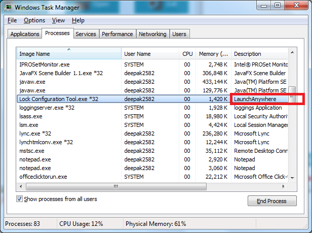 Change Product description in Task Manager (Proces