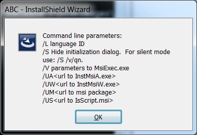 How to pass command line parameter for prerequisit