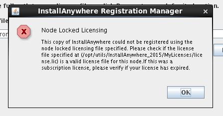 Cannot register node locked license - Community
