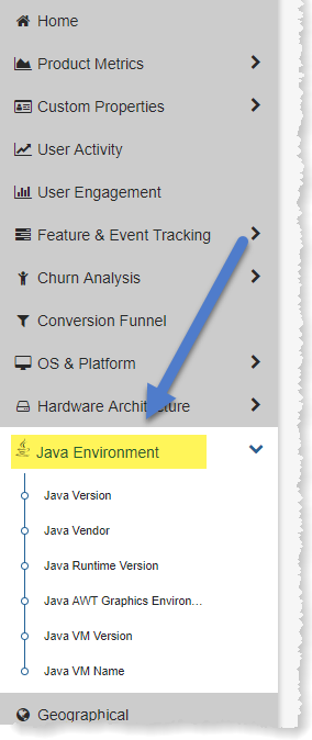 1_Revulytics-Java-Environment-Menu.png
