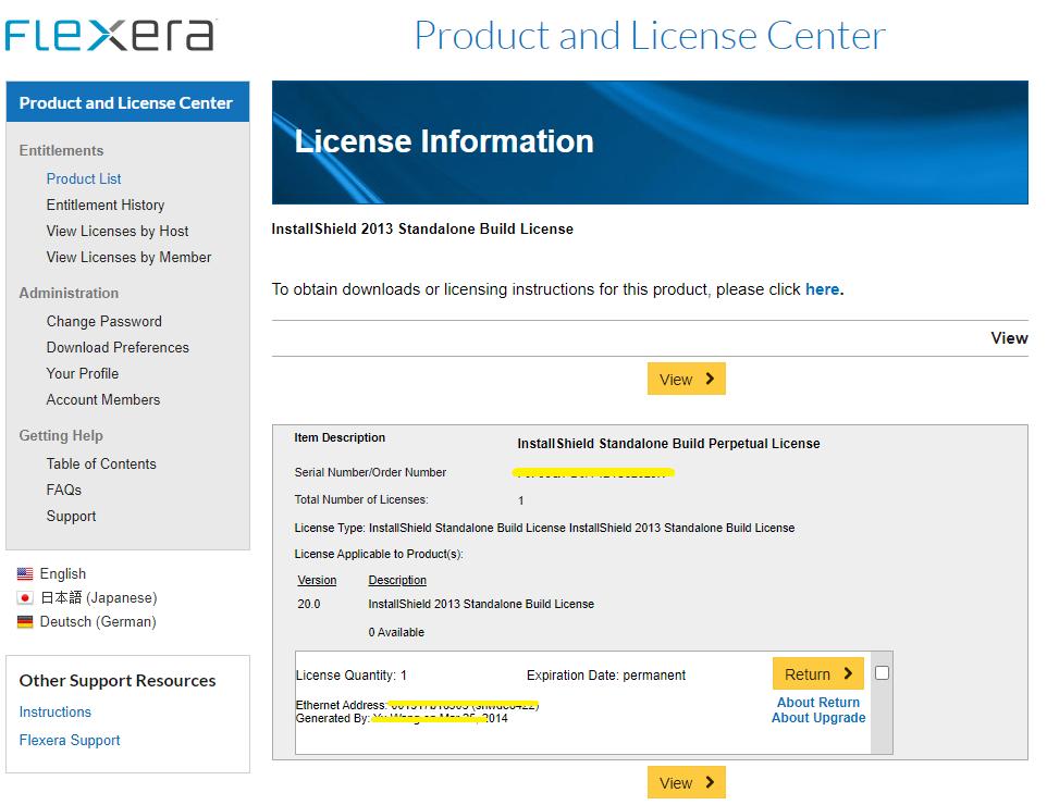 "Has ""Return"" for SAB2013 license"