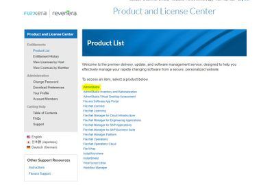 Product and License Center-Product List -AdminStudio 1.JPG