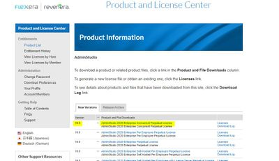Product and License Center-Product List -AdminStudio 2.JPG