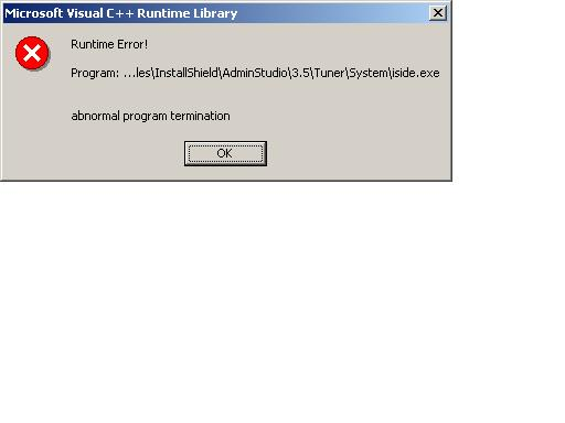 Visual C++ Runtime error on iside exe - Community