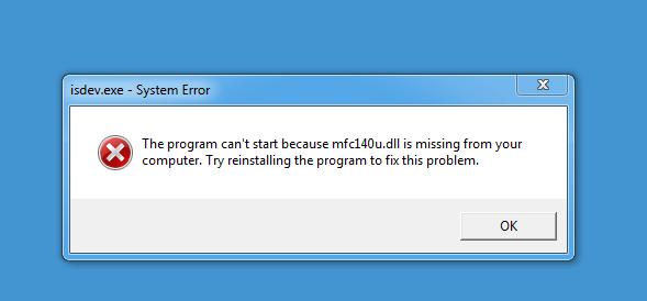 Missing mfc140u dll - Community
