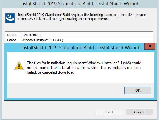 Solved: InstallShield 2019 Standalone Build - Prerequisite