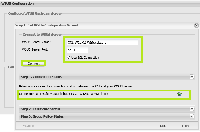 Successful WSUS SSL Implementation and SVM Connection