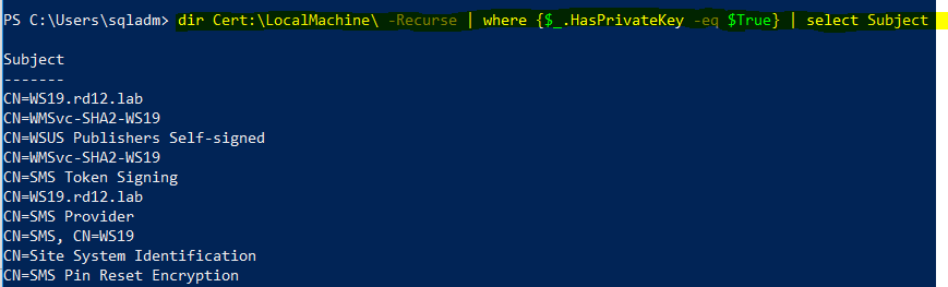 powershell query wsus private key.PNG